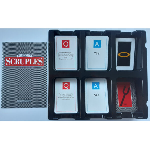 MB Games A Question of Scruples Game 1986 Contents