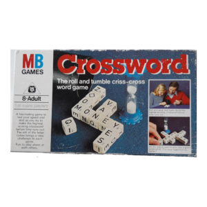 MB Games Crossword 1978 Vintage Game Box - the roll and tumble criss cross word game