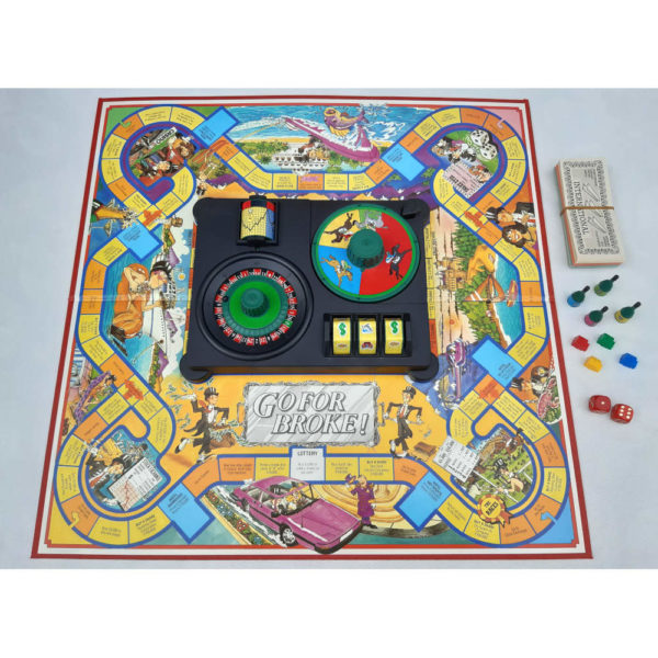 MB Games Go For Broke Game 1985 Contents Board