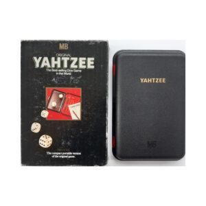 MB Games Original Yahtzee Deluxe Portable 1982 Box