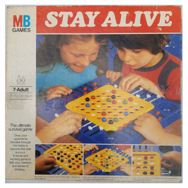 MB Games Stay Alive 1975 Vintage Game Box