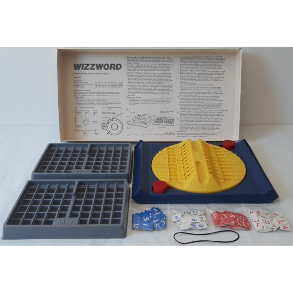 MB Games Wizzword 1977 Vintage Game Contents and Instructions