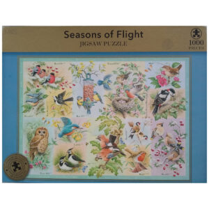 Marks Spencer M&S Seasons of Flight Birds Montage by Roy Trower 1000 pieces Jigsaw Box