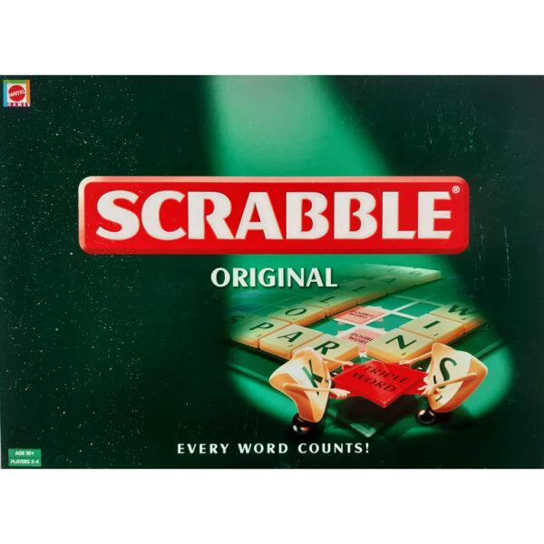 Mattel Games Scrabble Original 2003 Box
