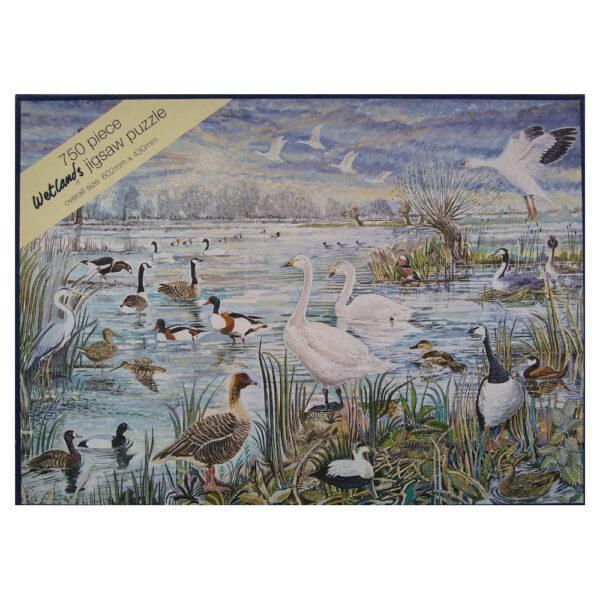 Melamaster Wetlands Birds Scene by Alex Williams 750 pieces Jigsaw Box