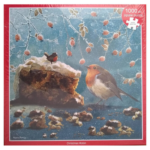 Otter House Christmas Robin Pollyanna Pickering Collection 7442 1000 pieces jigsaw box