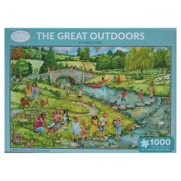 Otter House The Great Outdoors Debbie Cook 1000 pieces Jigsaw Box