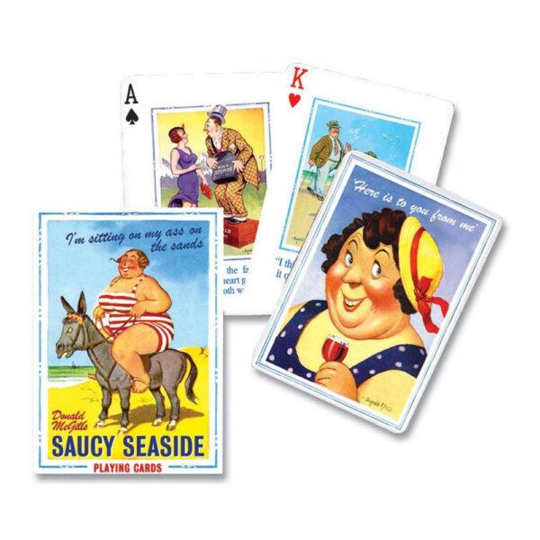 P1493 Piatnik Playing Cards Saucy Seaside by Donald McGill
