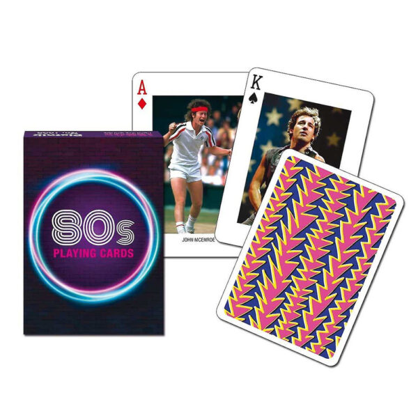 P1685 Piatnik Playing Cards 80s Featuring Famous People from the 1980s