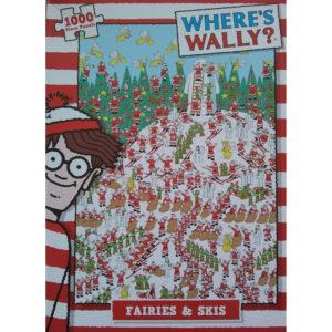 Paul Lamond Games Wheres Wally Fairies Skis Christmas Cartoon by Martin Handford 1000 pieces jigsaw box