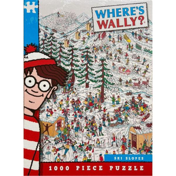 Paul Lamond Games Wheres Wally Ski Slopes Cartoon by Martin Handford PLG6495 1000 pieces jigsaw box