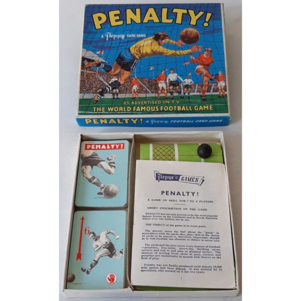 Pepys Penalty World Famous Football Game Vintage 1960s Contents Instructions