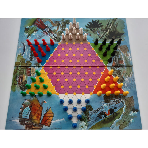 Philmar Chinese Chequers and Halma Game Board
