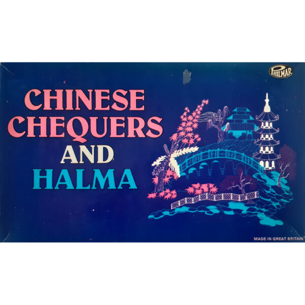Philmar Chinese Chequers and Halma Game Box