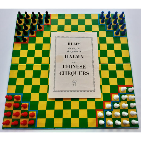Philmar Chinese Chequers and Halma Game Contents