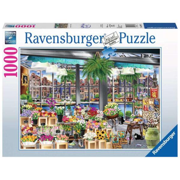 Ravensburger Amsterdam Flower Market by Kozak & Verduijn 139873 1000 pieces jigsaw box