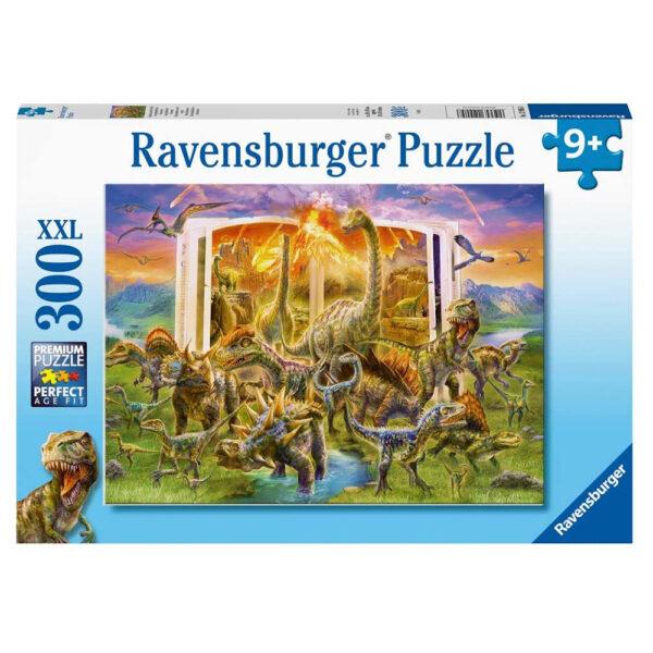 Ravensburger Dino Dictionary dinosaurs image by Jan Patrik 129058 300 XXL 9+ jigsaw box