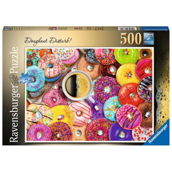 Ravensburger Doughnut Disturb by Aimee Stewart 500 pieces jigsaw box