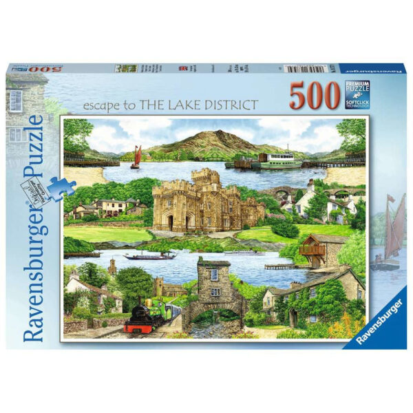 Ravensburger Escape to the Lake District The Lakes montage by Kevin Robinson 167579 500 pieces jigsaw box