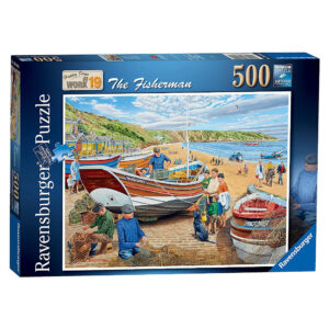 Ravensburger Happy Days at Work 19 The Fisherman by Trevor Mitchell 164141 500 pieces jigsaw box