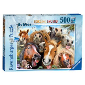 Ravensburger Horsing Around Selfies 146956 Jigsaw Puzzle Box Horses Comedy Image by Howard Robinson