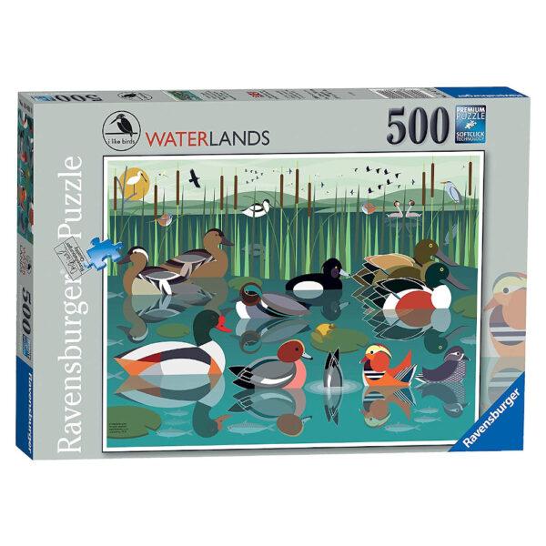 Ravensburger I Like Birds Waterlands by Stuart Cox 164110 500 pieces jigsaw box
