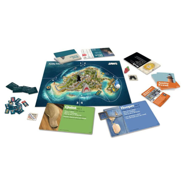 Ravensburger Jaws Game of Strategy and Suspense 262982 contents