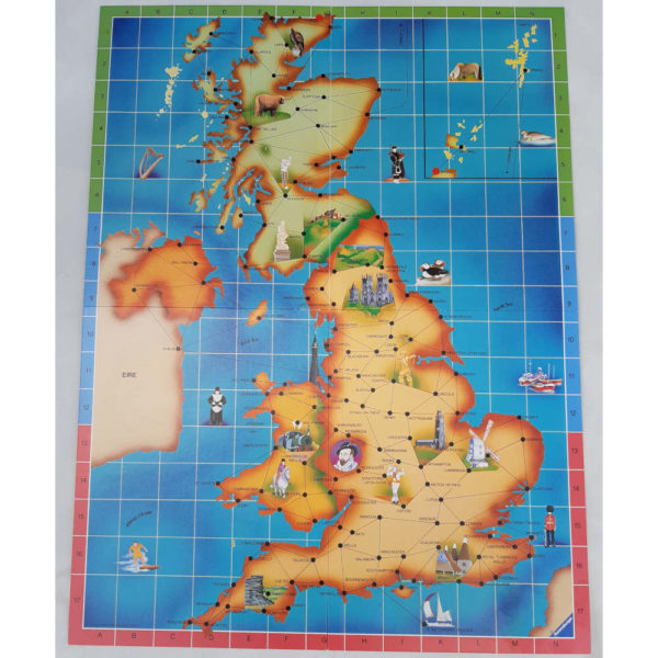 Ravensburger Journey Through Britain Game Contents Board UK Map