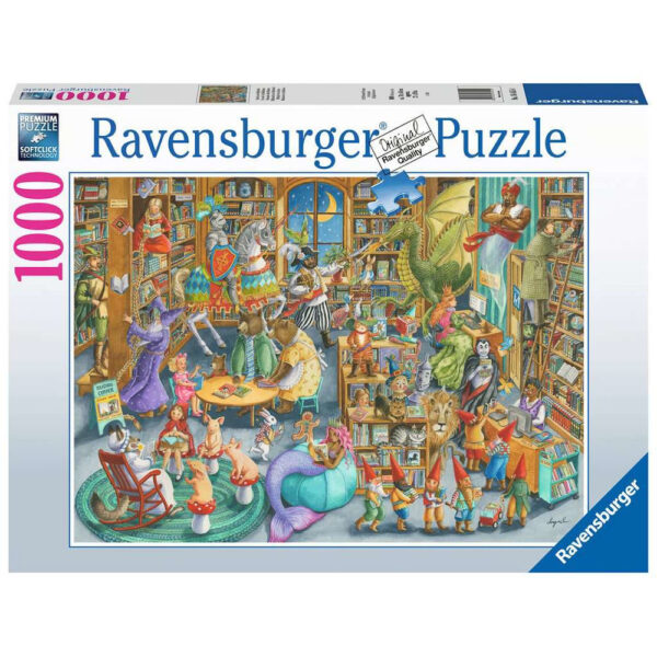 Ravensburger Midnight at the Library Toys at Play by Art by Ingrid 164554 1000 pieces jigsaw box