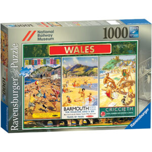 Ravensburger National Railway Museum Wales Jigsaw Box Vintage Posters of Aberystwyth Barmouth Criccieth