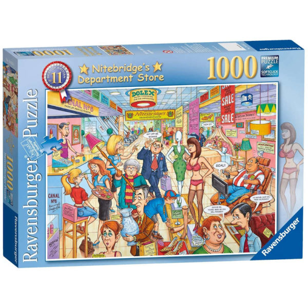 Ravensburger Nitebridges Department Store Best of British No 11 Jigsaw Box