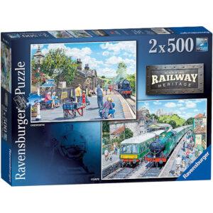 Ravensburger Number One Railway Heritage Oakworth Corfe 140619 Jigsaw Box
