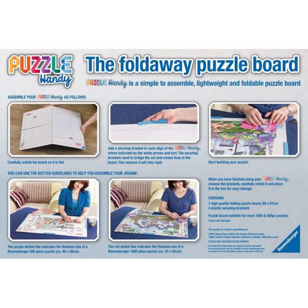 Ravensburger Puzzle Handy Foldaway Puzzle Board 179718 box back