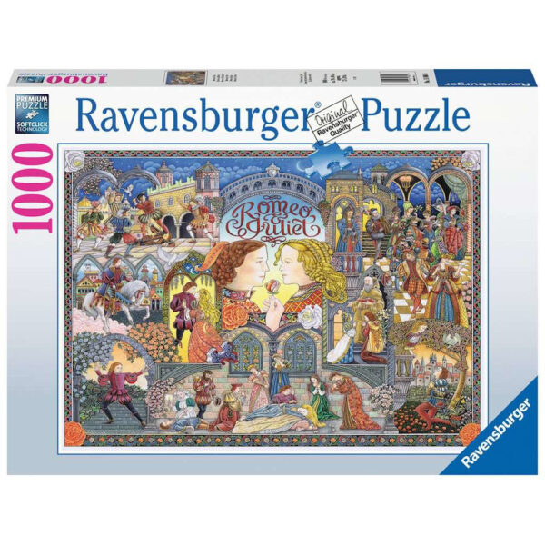 Ravensburger William Shakespeare's Romeo and Juliet by Peter Church 168088 1000 pieces jigsaw box