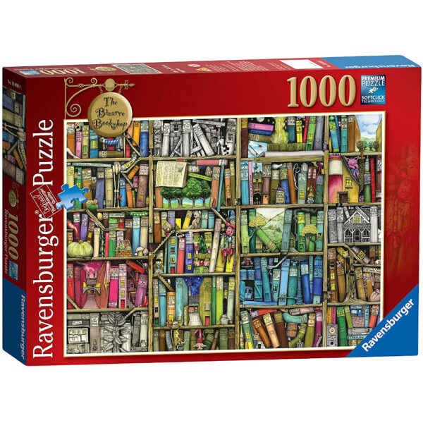 Ravensburger The Bizarre Bookshop 192267 Jigsaw Box Quirky Books on Shelves by Colin Thompson