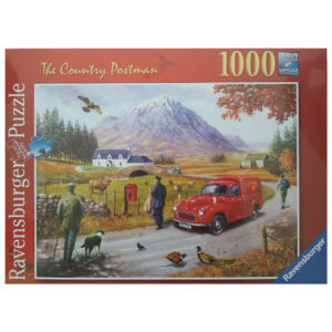 Ravensburger The Country Postman Scotland Mountain Scene by Kevin Walsh 191772 1000 pieces jigsaw box