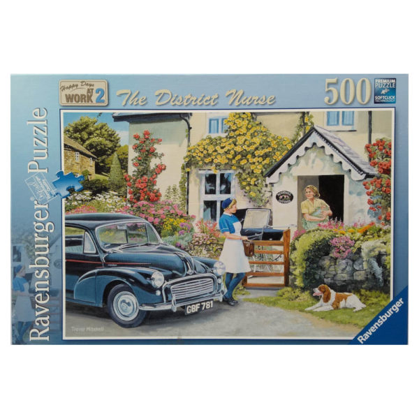 Ravensburger The District Nurse Happy Days At Work 2 Jigsaw Box Scene with Mother and Baby