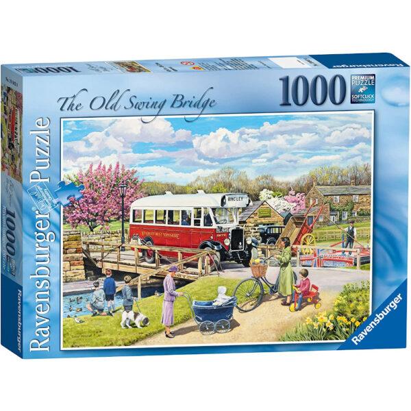 Ravensburger The Old Swing Bridge Trevor Mitchell 190430 1000 pieces Jigsaw Box Nostalgic Yorkshire Country Bus