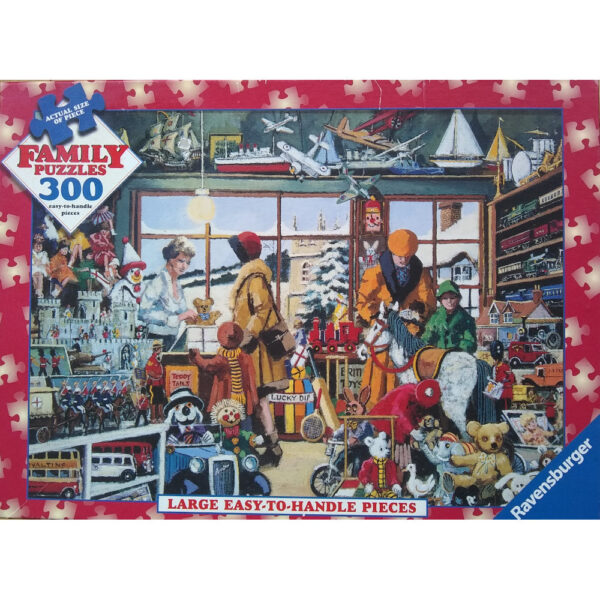 Ravensburger The Toy Shop circa 1938 Family Puzzles 14951 Jigsaw Puzzle Box Painting by Alan King
