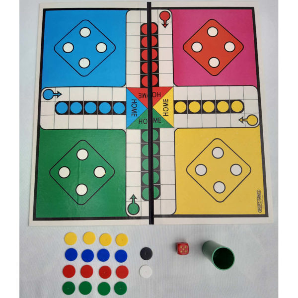 Spears Games Ludo and Snakes and Ladders 1960s Vintage Game Contents Ludo