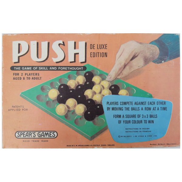Spears Games Push 1977 Vintage Game Box