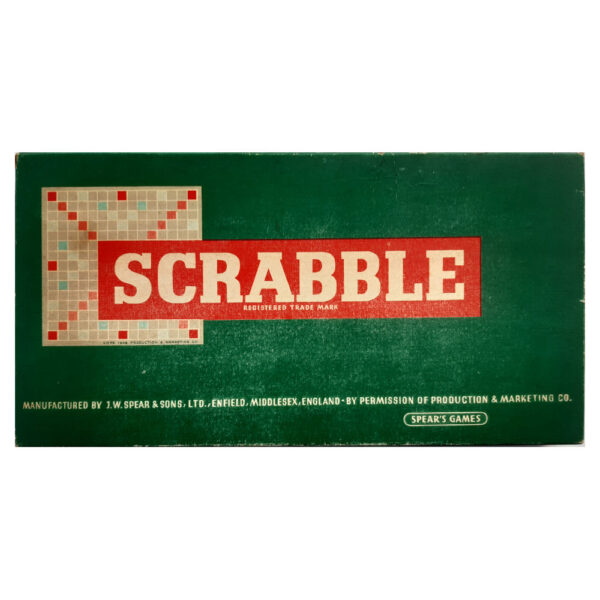 Spears Games Scrabble 1955 Box Vintage Game