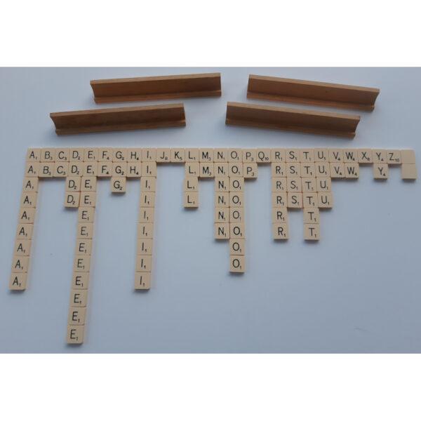 Spears Games Scrabble 1955 Contents Tiles Racks