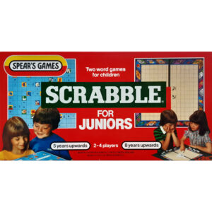 Spears Games Scrabble for Juniors Game 1983 Box