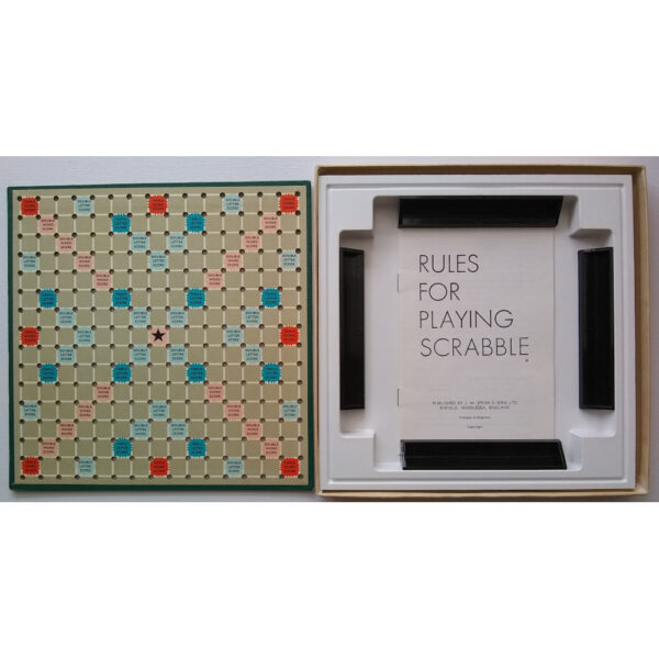 Spears Games Travel Scrabble 1950s or 1960s Game Board Racks