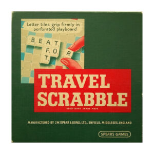 Spears Games Travel Scrabble 1950s Game Box
