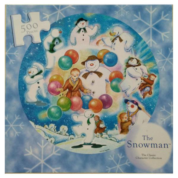 Susan Prescot Games The Snowman Classic Character Collection Circular Jigsaw Christmas Snow Scene Raymond Briggs