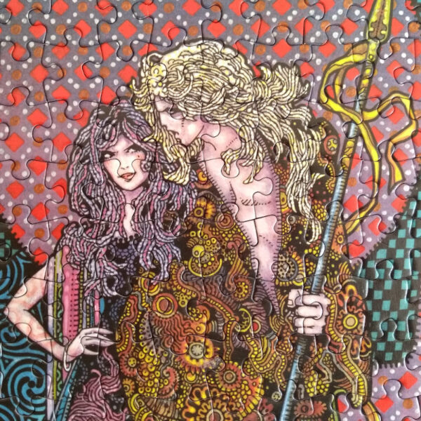 Tailten Games Diarmuid and Grainne Project Kells Celtic Image by Jim Fitzpatrick 500 pieces Jigsaw Detail