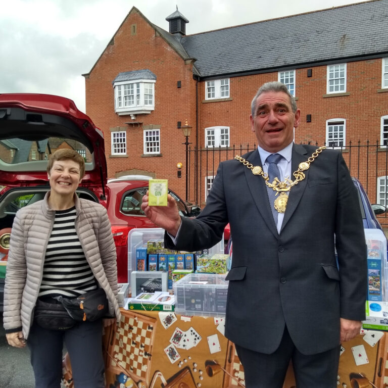 Tattenhall Village Market Stall With Chester Mayor July 2020