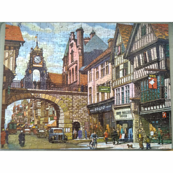 Tower Press Famous PlacesThe Eastgate Chester Vintage Jigsaw Complete
